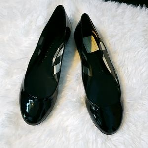NWT!! Burberry Black Patent Leather Flats
